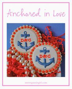 Sweet Goosie Girl: Personalized Anchor Cookies