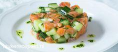 Zalmtartaar met komkommer | Leuke recepten | Bloglovin'