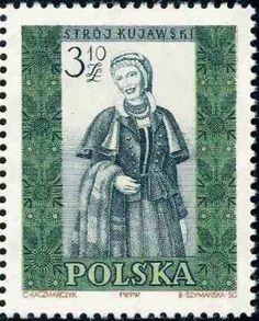 Polonia-Trajes Regionales-Traje de mujer de Kujawski