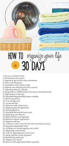 How to Organize your life in 30 days with a new post every day! Join the home organization challenge! organized home | organize kitchen | organize livinging room | organized homeschool