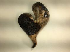 Myrtle wood heart wall hanging Love you by TreeWizWoodCarvings