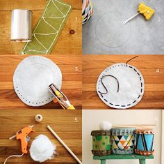 Beat of the Drum Bear Elective #5: Jelia's Music Playground: DIY DRUMS FOR KIDS Fun!