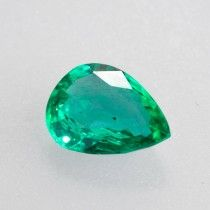 1.35ct Pear Cut Zambian Emerald
