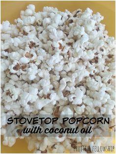 stovetop popcorn with coconut oil