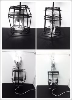 cage lamp with sculpture Cage, Sculpture, Lighting, Home Decor, Decoration Home, Room Decor, Sculptures, Lights, Sculpting