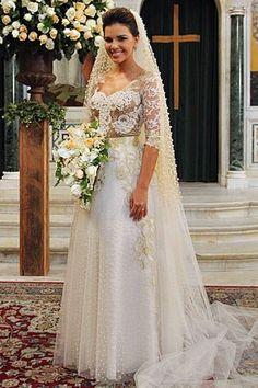 Vestido usado por Mariana Rios foi feito sob medida (Foto: Salve Jorge/TV Globo)