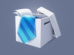 Dribbble - Box Icon by Di Zaborskih