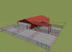 Cattle handling facilities are necessary for proper animal husbandry. Low stress cattle handling practices combined with good facilities will allow you to process cattle safely and efficiently. Horse Barn Plans, Horse Barns, Horse Stalls, Cattle Farming, Goat Farming, Show Cattle Barn, Sheep House, Cattle Corrals, Barn Layout