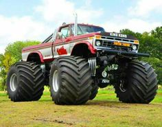 Jacked Up Trucks, Old Ford Trucks, Old Fords, King Kong, Old School, Monster Trucks, Undertaker, Mud, Ladder