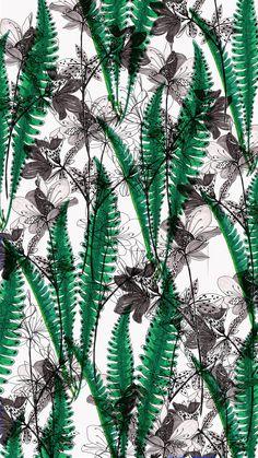www.brief-story.com Pattern Fashion, Fashion Prints, Textile Design, Pattern Design, Plant Leaves, Wallpaper, Plants, Wallpapers, Plant