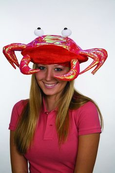Red Novelty Lobster Crab Seafood Hat Costume Accessory Adult Fish Cap #JacobsonHatsCo