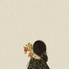 Risultati immagini per ottokim Cartoon Wallpaper, Anime Art Girl, Illustration Girl, Aesthetic Art, Cute Drawings, Cute Wallpapers, Cute Art, Art Sketches, Watercolor Art