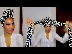 Easy DIY Headwrap Tutorial Using Leggings: Turban Style With Leggings Hair Wrap Scarf, Hair Scarf Styles, Curly Hair Styles, Natural Hair Styles, Turban Tutorial, Head Wrap Tutorial, Hair Turban, African Head Wraps, Step By Step Hairstyles