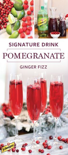 Your holiday party will be merry and bright—or should we say berry and bright—thanks to Schweppes Ginger Ale and this recipe for a Pomegranate Ginger Fizz! Whether you choose to serve it as a cocktail or a mocktail, you can be sure that all your seasonal guests will love the fun and fizzy flavor. Pick up all the ingredients and essentials you'll need to get started at Walmart!