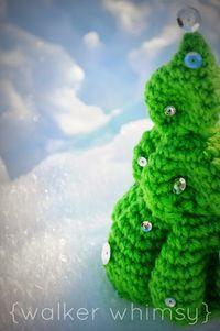 {walker whimsy} Crochet Christmas Tree {free pattern}