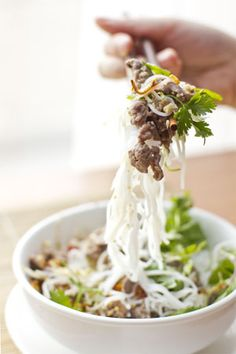 Sauteed Beef with Vermicelli and Herbs (Bun Bo) - Kitchen Art Store and Studio