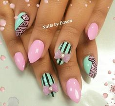stiletto-nails-tribalbright-tribal-accented-stiletto-nails-----nail-art-inspiration-anuh2w7d.jpg (578×535)