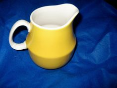 #ppt #pickingparadise Mikasa Cerastone Stoneware Yellow Creamer White by ChinaGalore
