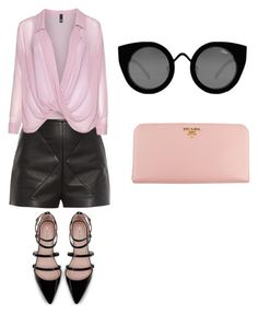 """Без названия #2"" by roxanammk on Polyvore featuring мода, Balenciaga, Manon Baptiste, Zara, Prada и Quay"