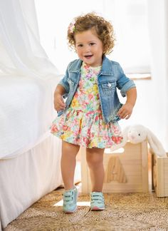 Our little girl clothing & new child clothes are severely cute. Little Girl Outfits, Toddler Girl Outfits, Little Girl Fashion, Baby Girl Dresses, Toddler Fashion, Baby Dress, Kids Fashion, Baby Girls, Noora Style