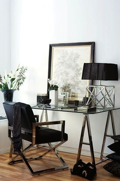 Black and silver work space. Brought to you by Shoplet.com - Everything for your business