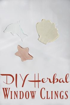 Skip the plastic and the artificial dyes and instead give your kids hours of fun with these diy herbal window clings! Fun to play with, fun to make! Natural Parenting, Gentle Parenting, Parenting Ideas, Natural Teething Remedies, Natural Remedies, Natural Living, Natural Baby, Natural Kids, Eco Kids