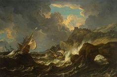 * Pieter Mulier (De Jonge) - - - Storm op zee - (016-001) …