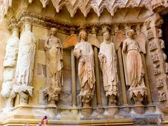 Cathedral of Reims. Reims Cathedral, Statue, France, Versailles, Art, Early French, Sculpture