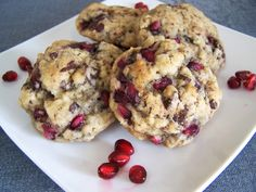 Pomegranate Chocolate Chunk Oatmeal Cookies - Foodista.com