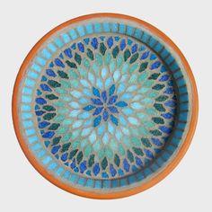 Blue Splash Mosaic Garden Yard Bird Bath Decoration by JoSaraUK, £33.00