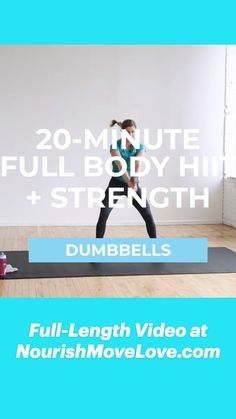 20 Minute Workout, Best Cardio Workout, Dumbbell Workout, Kettlebell, Workout Videos, Hiit With Weights, Strength Training Workouts, Weightlifting, Excercise