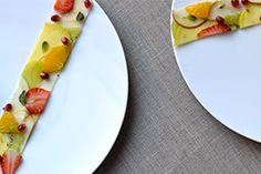 Qooking.ch | Plus qu'une salade de fruits Ceviche, C'est Bon, Plastic Cutting Board, Fruit Salad