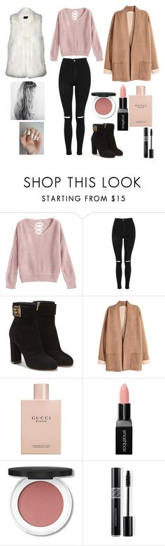 """""""SLOWLY"""" by reka15 on Polyvore featuring Topshop, Salvatore Ferragamo, Gucci, Smashbox, Christian Dior and Faux"""