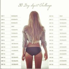 30 day squat fitness challenge