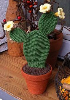 Und schon wieder Grünzeug für die Fensterbank oder dunkle Ecken ^^  download Häkelanleitung Opuntia download free crochet pattern Opuntia