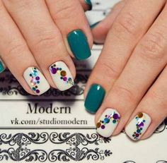 60 Stylish Nail Designs for Nail art is another huge fashion trend besides the stylish hairstyle, clothes and elegant makeup for women. Nowadays, there are many ways to have beautiful nails with bright colors, different patterns and styles. Fancy Nails, Cute Nails, Pretty Nails, My Nails, Sparkle Nails, Elegant Nail Art, Beautiful Nail Art, Elegant Makeup, Stunningly Beautiful