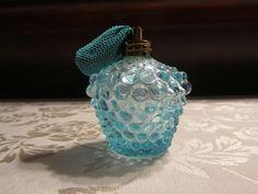 FENTON BLUE OPESCENT HOBNAIL PERFUME BOTTLE WITH ATOMIZER $10.49