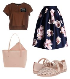"""""""Sister Missionary Outfit #8"""" by cmbusath on Polyvore featuring Chicwish, TRY ME, Ted Baker and Hispanitas"""