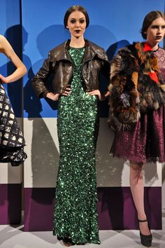 sequins and leather will forever be a favorite combination of mine. alice + olivia, you got it right again.