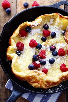 Five minutes of prep is all it takes to get this German pancake in the oven.