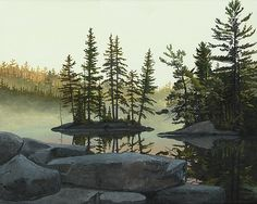 Lake scene painter and artist area of Toronto, Muskoka, Northern Ontario and Canada. Canadian Artists, Scene, Gallery, Artwork, Painting, Ideas, Work Of Art, Auguste Rodin Artwork, Painting Art