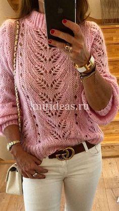 Neuen: Nice openwork sweater with knitting needles. Schema pattern …, # knitting needles … – The Best Ideas Knitting Stitches, Knitting Patterns Free, Free Knitting, Baby Knitting, Knitting Needles, How To Start Knitting, Mohair Sweater, Loose Knit Sweaters, Sweater Fashion