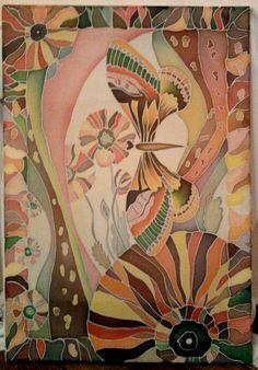 Батик, (50x70), 'Весна' www.pjosephine.com