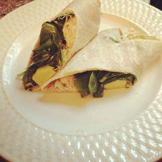 ... Swiss, avocado and spinach wrap, pressed on a panini for just a few
