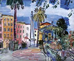 Raoul Dufy | 1877-1953, France (fauves) | La place d'Hyères