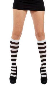 Pamela Mann - Twickers Black-Silver Knee High Socks