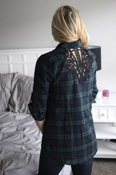 Skies are Blue Lans Button Down Tunic. I'm CRAZY for this shirt. Love the back detail!