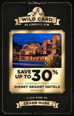 WILD CARD #Disney #save #tickets