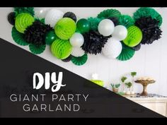 DIY Giant Party Garland with Honeycombs and Balloons