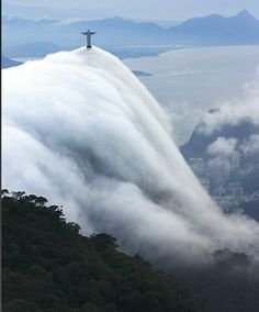 Christ Statue and clouds. Rio de Janeiro by Anselmo Pereira Bittencourt